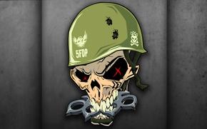 Обои skull, helmet, DJ PIRATA, EL KAIO & MAXI GEN