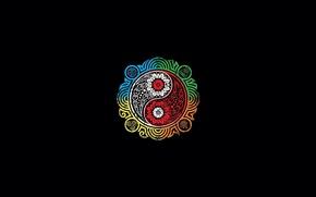 Картинка вода, огонь, земля, узор, воздух, символ, Avatar, Аватар, инь-янь, The Legend of Korra, Аватар: Легенда ...