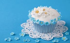 Обои цветы, flowers, торт, food, cake, dessert, десерт, сладкое, кексы, sweet, еда, muffins