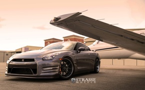 Картинка GTR, wheels, NISSAN, strasse