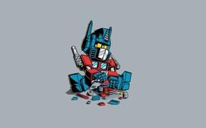 Картинка Арт, Transformer, Лего, Минимализм, Трансформер
