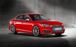 Обои 2015, Sedan, Red, ауди, красная, Audi