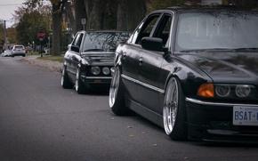 Картинка tuning, E38, E28, BMW, stance