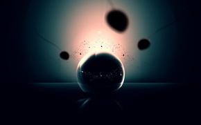 Обои сперматозоиды, шар, отражение, 151