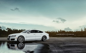 Картинка white, 360forged, Audi A7 Sportback