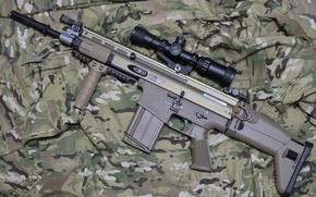 Картинка оружие, автомат, камуфляж, винтовка, штурмовая, FN SCAR-H