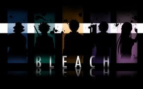 Обои bleach, Kisuke Urahara, блич, Inoue Orihime, Hitsugaya Toshiro, Yasutora Chad, Kurosaki Ichigo, incognito