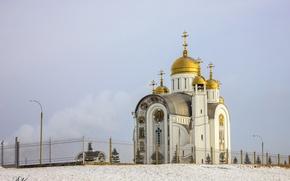 Картинка Храм, религия, православие, депевянное зодчество, храмовая архитектура