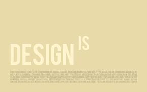 Обои минимализм, креатив, design, слова, буквы, дизайн