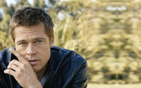 Картинка взгляд, мужчина, Брэд Питт, Brad Pitt, актёр, продюсер