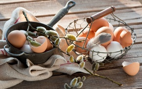 Картинка Пасха, Яйца, Праздник, Веточка вербы