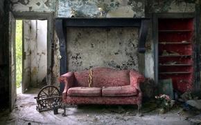 Картинка комната, диван, дверь