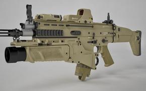 Картинка gun, rifle, assault rifle, FN Scar, ordnance, FN Herstal Belgium, grenade launcher, art in weapon …