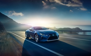 Картинка синий, Lexus, лексус