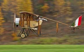 Картинка самолет, скорость, пилот, Caudron G III