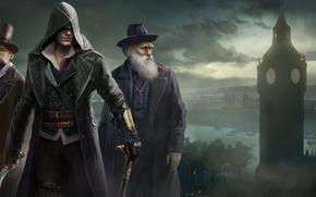 Обои Лондон, Assassins Creed, Арт, Дарвин, Синдикат, Syndicate, Ubisoft Quebec, Assassin's Creed: Syndicate, Assassin's Creed: Синдикат, ...