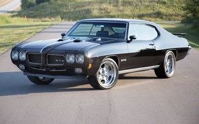Картинка Black, Pontiac, GTO, 1970