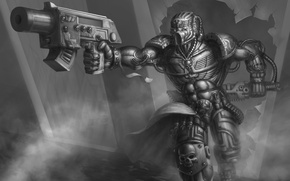 Картинка bolter, assasin, warhammer 40K, imperium, chainsword, listenerk