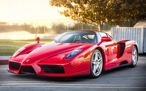 Картинка Ferrari, red, supercar, Enzo