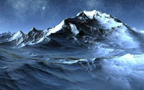 Обои небо, горы, зима