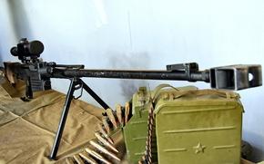 Обои магазин, сильно, стена, ремень, приспособление, прицельное, тормоз, патроны, снайперская, лента, rifle, large, sniper, винтовка, крупнокалиберная, ...