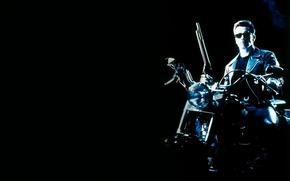 Обои фильм, Терминатор 2, Арнольд Шварценеггер, судный день
