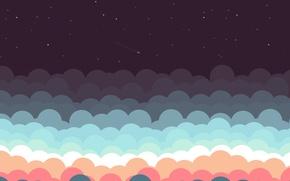 Картинка Небо, Минимализм, Ночь, Звезды, Красиво, Sky, Beautiful, Stars, Night, Minimalism, Shooting Stars, Падающие Звезды