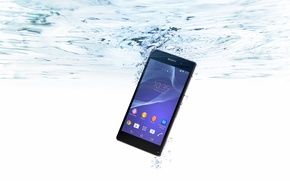 Картинка Вода, Пузырьки, Sony, Water, Xperia, Smartphone, Смартфон, Водонепроницаемый
