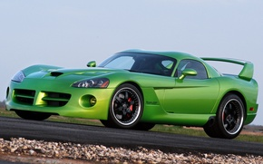 Картинка green, тюнинг, Dodge Viper, SRT, Hennessey Venom, 1000 twin turbo