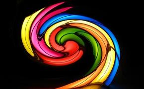 Обои спираль, цвет, отражение