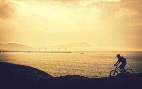 Картинка sport, bicycle, silhouette, adventure, ride, biker, mountain bike, cyclist