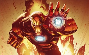 Картинка маска, костюм, броня, супергерой, art, iron man, marvel comics, tony stark