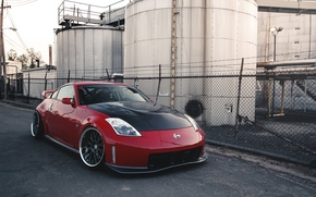 Картинка nissan, red, tuning, 350