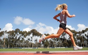 Картинка woman, workout, running, athletics