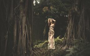 Картинка девушка, платье, губки, Emily Ribar
