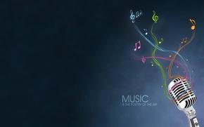 Картинка минимализм, Музыка, микрофон