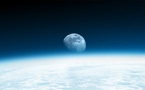 Картинка небо, космос, луна