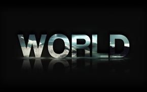 Картинка Мир, World, Текст