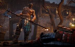 Картинка Microsoft, wallpaper, sword, blood, game, Sony, armor, weapon, Ubisoft, power, snow, man, ken, tatoo, blade, …
