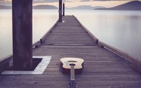 Картинка мост, музыка, гитара