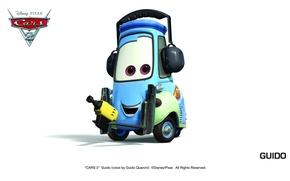 Картинка pixar, машинки, тачки 2, cars 2, guido