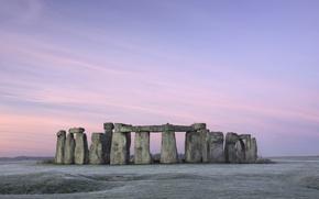 Картинка пастель, stonehenge, стоунхендж