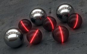 Обои Шары, Industrial Glow, Balls