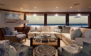 Картинка view, luxury, yacht, salon, motor