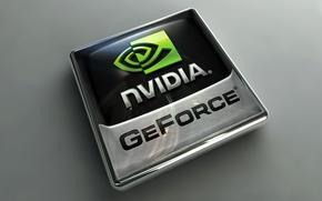 Обои Логотип, Nvidia, GeForce