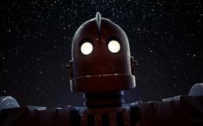 Картинка мультфильм, робот, The Iron Giant, стальной гигант