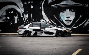 Картинка BMW, БМВ, winter, Alpina, E38, 740il, arctic camo, camo, Тюнг