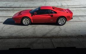 Картинка красный, Ferrari, Red, спорткар, sportcar, GTO, classic, urban, 288