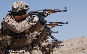 Обои калашников, солдаты, стрельбы