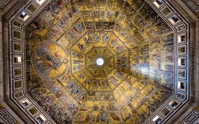 Картинка Италия, Флоренция, архитектура, религия, врата рая, крещение, баптистерий